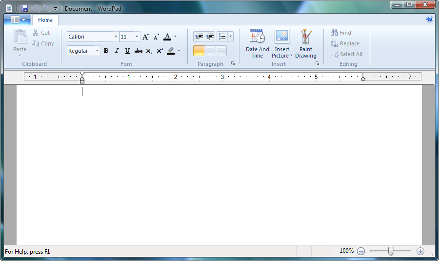 Microsoft Office Wordpad